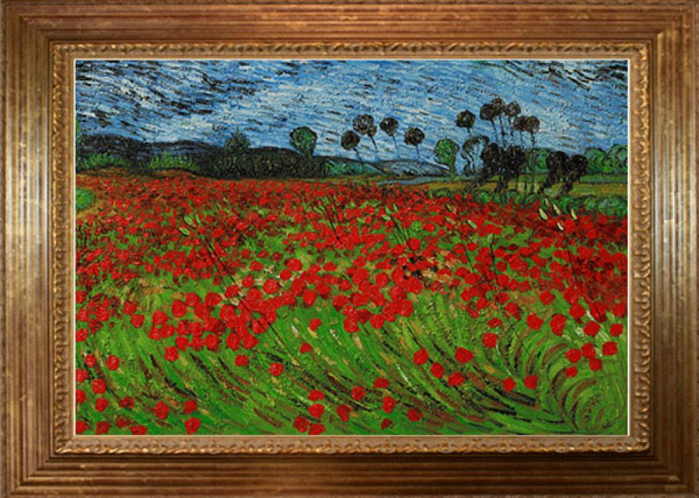 Field of Poppies Pre-Framed