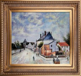 Street in Moret (Porte de Bourgogne from across the Bridge) Pre-Framed - 24