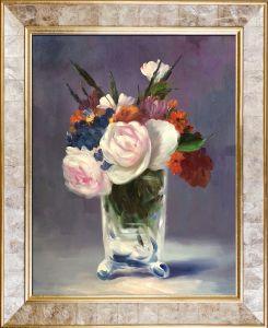 Flowers in a Crystal Vase Pre-Framed - 20