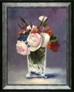 Flowers in a Crystal Vase Pre-Framed
