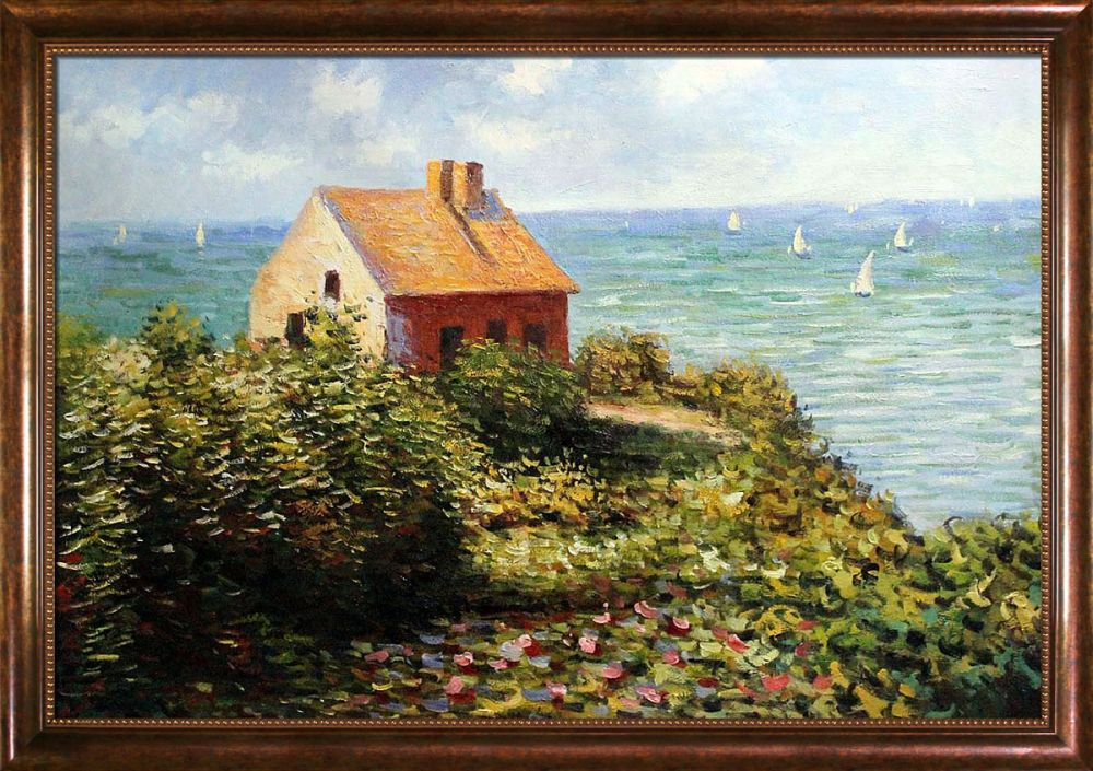 Claude monet the fisherman 39 s cottage at pourville pre framed - The fishermans cottage ...