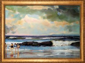 On the Beach Pre-Framed