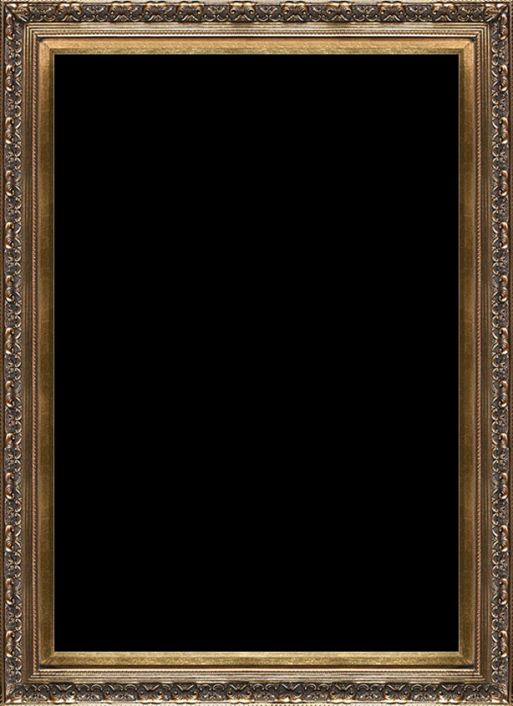 Baroque Antique Gold Frame 24x36 Canvas Art