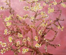 Branches of an Almond Tree in Blossom (pink) - 24