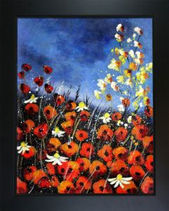 Red Poppies 451140 Pre-Framed