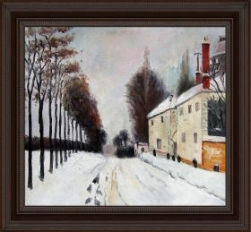 Snow on the Road, Louveciennes Pre-Framed