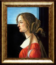 Portrait of Simonetta Vespucci Pre-Framed