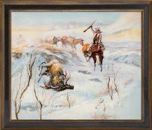 Christmas Dinner for the Men on the Trail Pre-Framed