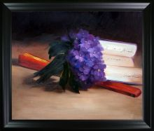 Bouquet Of Violets Pre-Framed