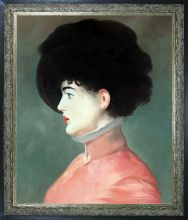 Irma Brunner (Woman in a Black Hat) Pre-Framed