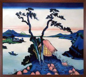 Lake Suwa in the Shinano Province Pre-Framed