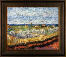 Peach Trees in Blossom Pre-Framed