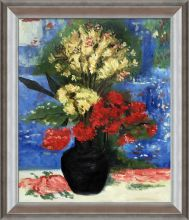 Vase with Carnations and other flowers Pre-Framed - 20