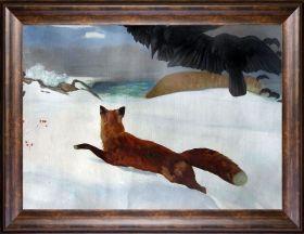 The Fox Hunt  Pre-Framed