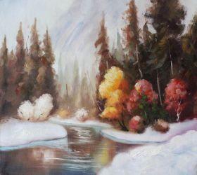 Winter Landscape Reproduction