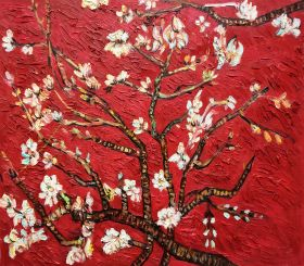 Branches of an Almond Tree (Interpretation in Red)