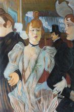 La Goulue arriving at the Moulin Rouge