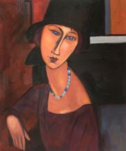 Jeanne Hebuterne with Hat and Necklace - 20