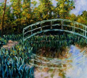 The Water-Lily Pond, Water Irises - 24