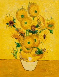 Vase with Fifteen Sunflowers - 20