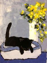 Black cat is sleeping - 36