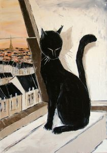 Black cat is a Paris master - 36