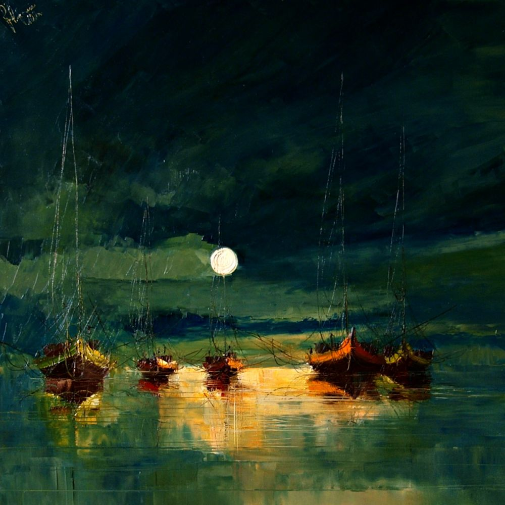 Boats (with moon)