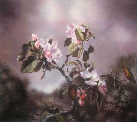 Apple Blossoms and Hummingbird - 24