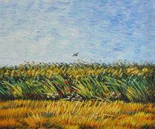 Edge of a Wheat Field with Poppies and a Lark - 24
