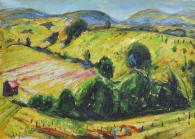 Fauve Landscape with Rolling Hills