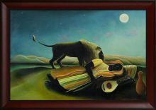 The Sleeping Gypsy Pre Framed - 36
