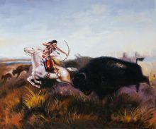 Indians Hunting Buffalo - 24