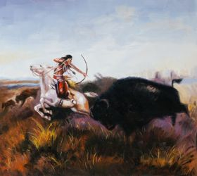 Indians Hunting Buffalo - 24
