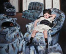 Little Girl in a Blue Armchair - 24