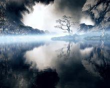 Misty Blue Lake
