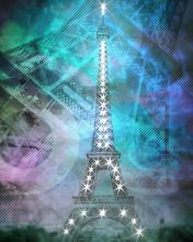 Illuminated Pop Art Eiffel Tower