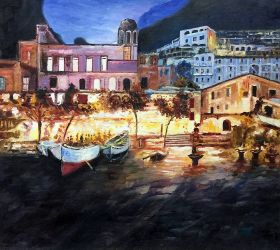 Positano by Night Reproduction