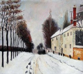Snow on the Road, Louveciennes
