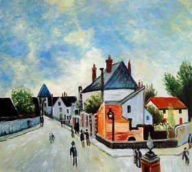 Street in Moret (Porte de Bourgogne from across the Bridge)