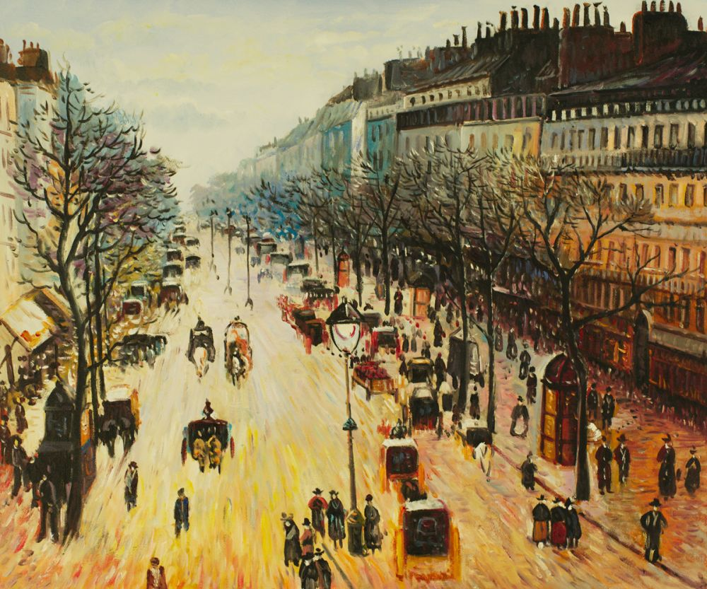 Boulevard Montmartre on a Winter Morning