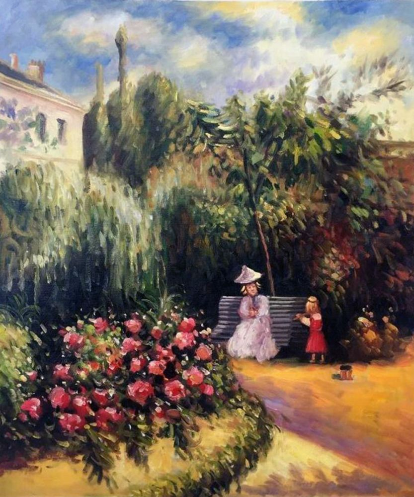 Camille Pissarro The Garden At Pontoise Hand Painted