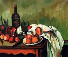 Still Life with Onions and Bottle