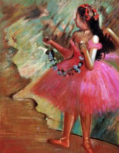 Dancer in a Pink Dress (Luxury Line)
