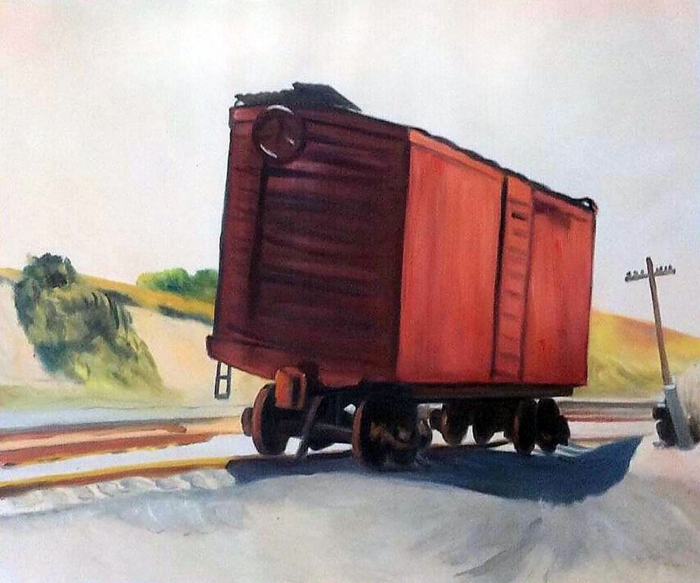 Freight Car at Truro, 1931