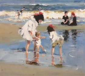Children Playing at the Seashore - 24