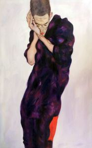 Young Man in Purple Robe with Clasped Hands, 1914