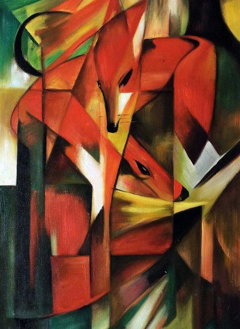 Franz Marc The Fox Hand Painted Oil Painting On Canvas