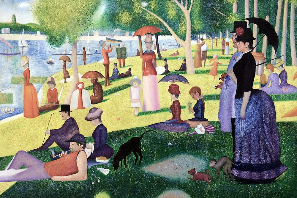 a sunday afternoon on the island of la grande jatte Download this stock image: a sunday afternoon on the island of la grande jatte by georges seurat displayed at the art institute of chicago, illinois, usa - by1wae.