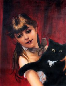 Girl with Black Cat, 1885