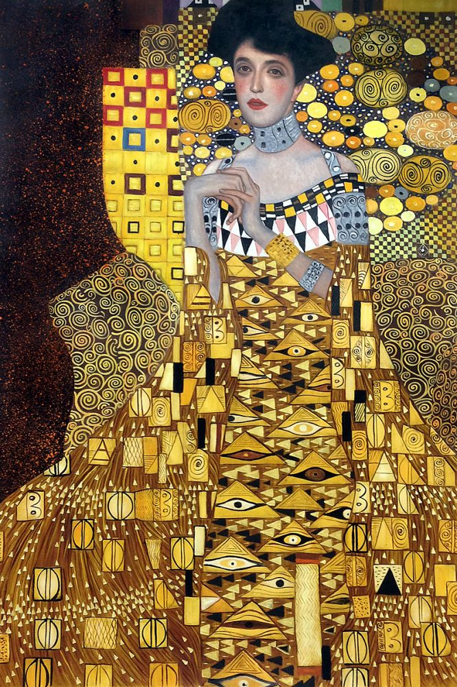 gustav klimt portrait of adele bloch bauer 1 1907 hand. Black Bedroom Furniture Sets. Home Design Ideas